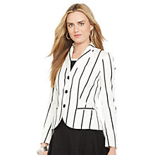 Buy Lauren Ralph Lauren Striped 3-Button Blazer, Pearl/Black Online at johnlewis.com