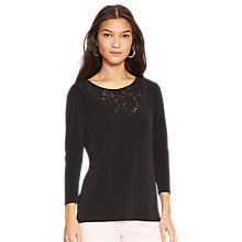 Buy Lauren Ralph Lauren Floral Lace Ballet-Neck Top Online at johnlewis.com