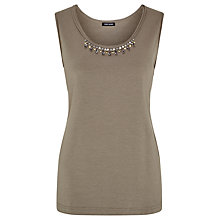 Buy Gerry Weber Embellished Vest, Khaki Online at johnlewis.com