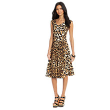 Buy Lauren Ralph Lauren Leopard Print Dress, Multi Online at johnlewis.com