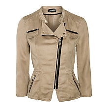 Buy Gerry Weber Biker Jacket, Khaki Online at johnlewis.com