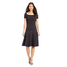 Buy Lauren Ralph Lauren Square-Neck Tiered Dress, Black Online at johnlewis.com