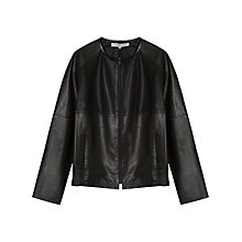 Buy Gerard Darel Anemone Perforated Leather Jacket, Black Online at johnlewis.com