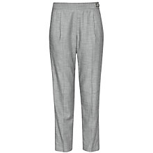 Buy French Connection Wendy Weave Trousers, Black/White Online at johnlewis.com