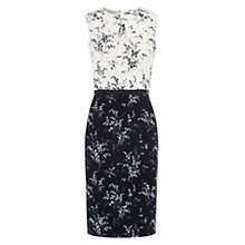 Buy Hobbs Convalla Dress, Ivory / Navy Online at johnlewis.com