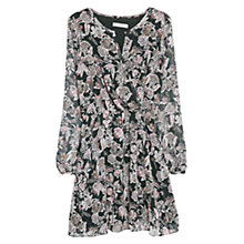 Buy Mango Floral Wrap Dress, Black Online at johnlewis.com