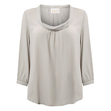 Buy East Cowl Neck Top, Smoke Online at johnlewis.com