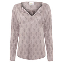 Buy East Booti Print Jersey Linen Top Online at johnlewis.com