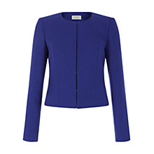 Buy Hobbs Leona Jacket, China Blue Online at johnlewis.com