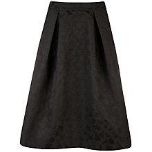 Buy Ted Baker Penima Floral Jacquard Skirt, Black Online at johnlewis.com