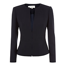 Buy Hobbs Corina Wool Jacket, Navy Online at johnlewis.com