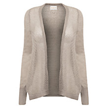 Buy East Lace Stitch Cardigan, Smoke Online at johnlewis.com