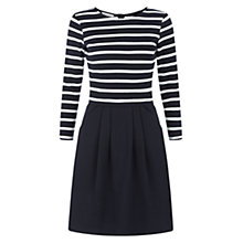 Buy Hobbs Layla Dress, Navy / Ivory Online at johnlewis.com