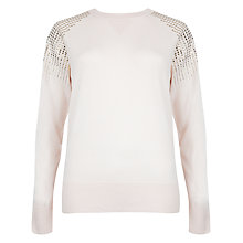 Buy Ted Baker Stud Detail Jumper, Straw Online at johnlewis.com