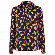 Buy Oasis Pop Art Butterfly Shirt, Navy Online at johnlewis.com