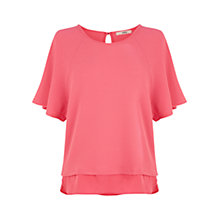 Buy Oasis Kimono Sleeve Top, Mid Pink Online at johnlewis.com