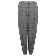 Buy East Dara Print Harem Trousers, Slate Online at johnlewis.com