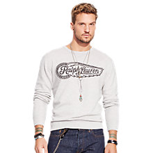Buy Denim & Supply Ralph Lauren Eagle-Wing Graphic Sweatshirt Online at johnlewis.com