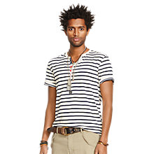 Buy Denim & Supply Ralph Lauren Striped Flag Placket Henley Top Online at johnlewis.com