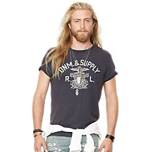Buy Denim & Supply Ralph Lauren Print T-Shirt, Navy Online at johnlewis.com