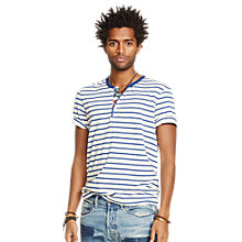 Buy Denim & Supply Ralph Lauren Striped Cotton T-Shirt, White/Navy Online at johnlewis.com