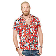 Buy Denim & Supply Ralph Lauren Floral Poplin Sport Shirt, Red Online at johnlewis.com