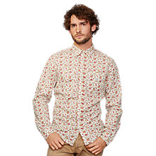 Buy Denim & Supply Ralph Lauren Floral Cotton Sport Shirt, Cream/Red Online at johnlewis.com