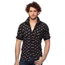 Buy Denim & Supply Ralph Lauren Floral Cotton Sport Shirt, Black Online at johnlewis.com