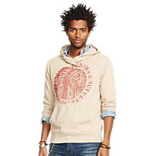 Buy Denim & Supply Ralph Lauren Faded Graphic Print Hoodie, Cream Online at johnlewis.com