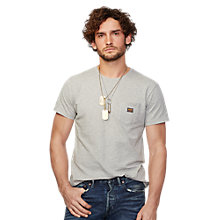 Buy Denim & Supply Ralph Lauren Crew Neck Pocket T-Shirt, Grey Online at johnlewis.com