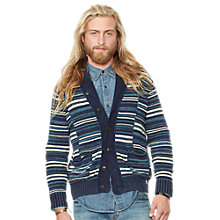 Buy Denim & Supply Ralph Lauren Shawl Stripe Cardigan, Blue/Multi Online at johnlewis.com