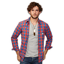 Buy Denim & Supply Ralph Lauren Work Drawn Check Shirt, Red/Blue Online at johnlewis.com