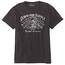 Buy Denim & Supply Ralph Lauren Bow and Arrow Printed T-Shirt, Black Online at johnlewis.com