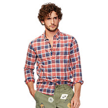Buy Denim & Supply Ralph Lauren Plaid Oxford Sport Shirt, Red Online at johnlewis.com