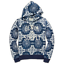 Buy Denim & Supply Ralph Lauren Sierra Cotton Hoodie, Blue Online at johnlewis.com