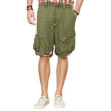 Buy Denim & Supply Ralph Lauren Military Cargo Shorts, Pine Olive Online at johnlewis.com