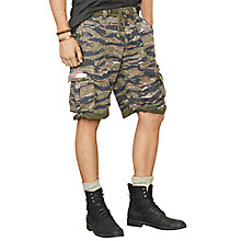 Buy Denim & Supply Ralph Lauren Green Patched Cargo Shorts, Green/Multi Online at johnlewis.com