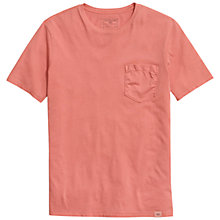 Buy Dockers Core Cotton T-Shirt, Spiced Coral Online at johnlewis.com