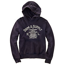 Buy Denim & Supply Ralph Lauren Eagle Print Hoodie, Navy Online at johnlewis.com