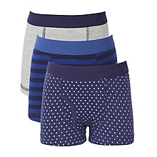 Buy John Lewis Boy Spot and Stripe Briefs, Pack of 3, Blue Online at johnlewis.com