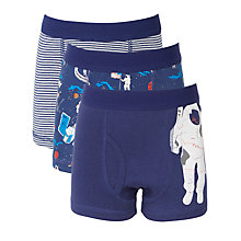 Buy John Lewis Boy Spaceman Trunks, Pack of 3, Blue Online at johnlewis.com