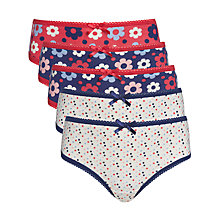 Buy John Lewis Girl Bold Floral Patterned Briefs, Pack of 5, Multi Online at johnlewis.com