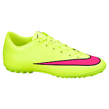 Buy Nike Mercurial Victory V Astro Men's Football Boots, Volt/Pink Online at johnlewis.com