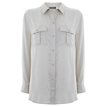 Buy Mint Velvet Relaxed Fit Shirt, Stone Online at johnlewis.com