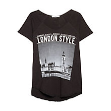 Buy Mango City Print T-Shirt, Black Online at johnlewis.com