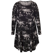 Buy Chesca Printed Tunic Dress, Black/Grey Online at johnlewis.com