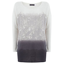 Buy Mint Velvet Skylar Print Linen Jumper, Multi Online at johnlewis.com