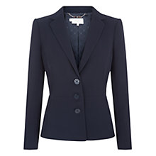Buy Hobbs Annina Jacket, Navy Online at johnlewis.com