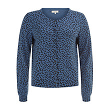 Buy Hobbs Sidra Cardigan, Navy Oil Blue Online at johnlewis.com