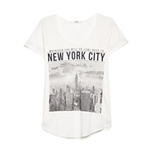 Buy Mango City Print T-Shirt, Natural White Online at johnlewis.com